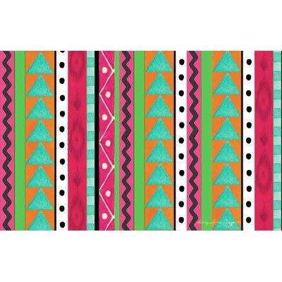 Boho Medallion Square Pink/Green Area Rug Rug Size: 31 x 110.5
