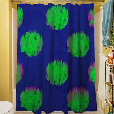 Big Dots Shower Curtain Color: Bright