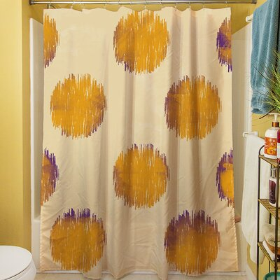 Big Dots Shower Curtain Color: Gold