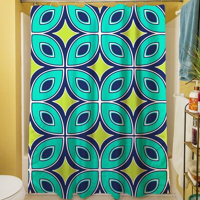 Lorraine Links Shower Curtain Color: Blue