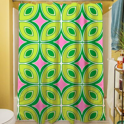 Lorraine Links Shower Curtain Color: Green