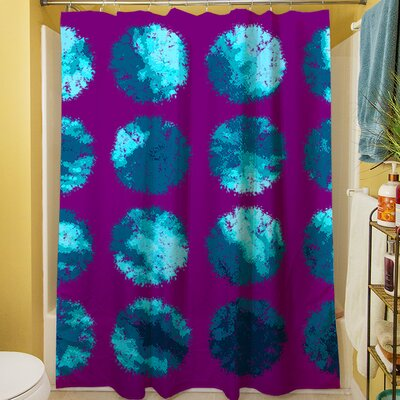 Fuzzy Dots Shower Curtain Color: Bright