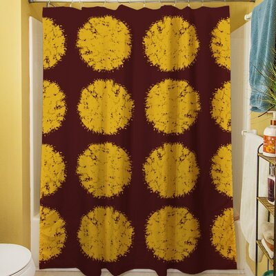 Fuzzy Dots Shower Curtain Color: Gold