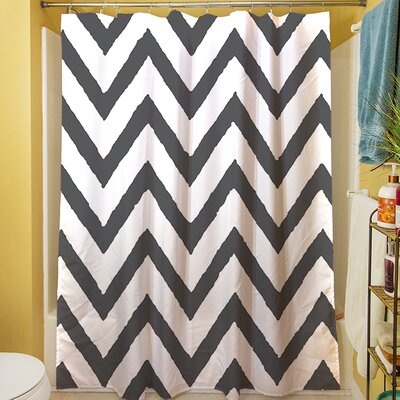 Zig Zag Shower Curtain Color: Gray