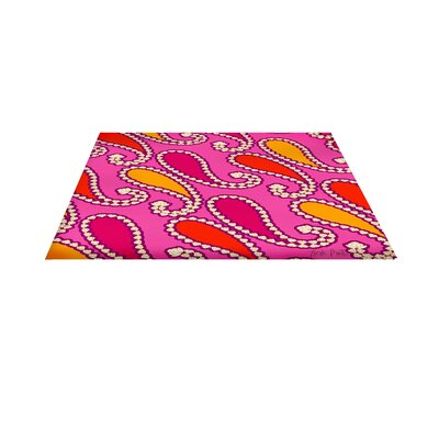 Paisley Pink Area Rug Rug Size: 31 H x 110.5 W