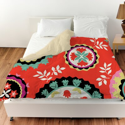Bird Berries Susani Duvet Cover Size: Twin