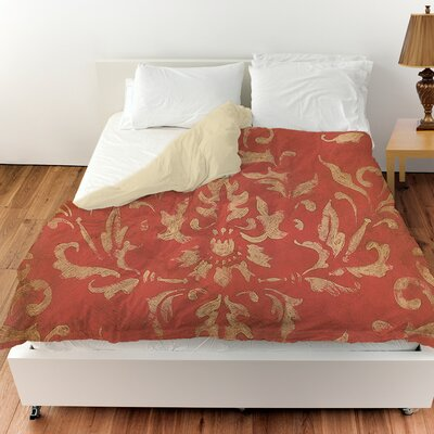 Golden Baroque Duvet Cover Size: Queen