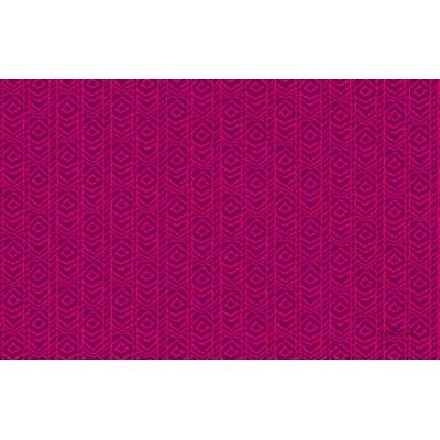 Sketched Ikat Purple Rug Rug Size: 31 x 110.5