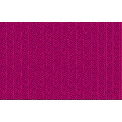 Sketched Ikat Purple Rug Rug Size: 510 x 44