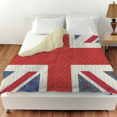 Mini Print Union Duvet Cover Size: Twin