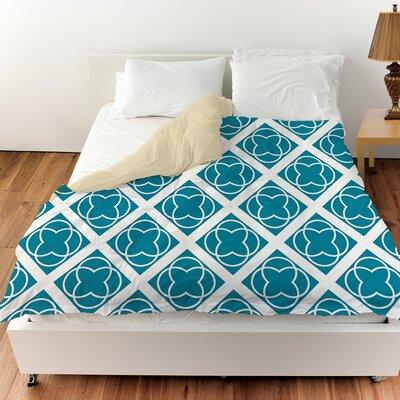 Modern Geometric Topaz Duvet Cover Size: Twin