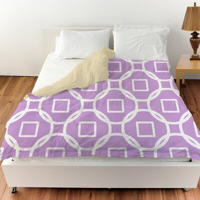 Modern Geometric Lavender Duvet Cover Size: Twin