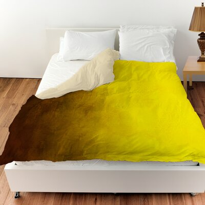 Ombre Duvet Cover Color: Gold, Size: King