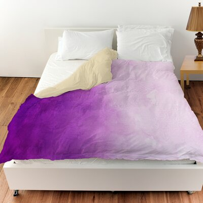Ombre Duvet Cover Color: Purple, Size: King