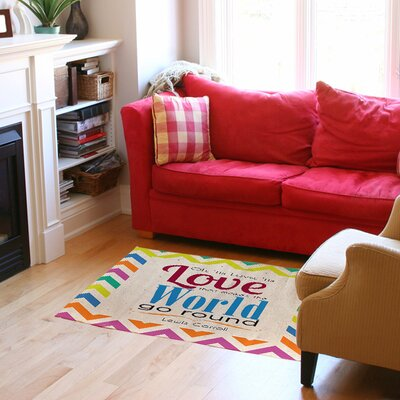 World Sdgraphics Studio Sundance Chevron Area Rug Rug Size: 31 x 110.5
