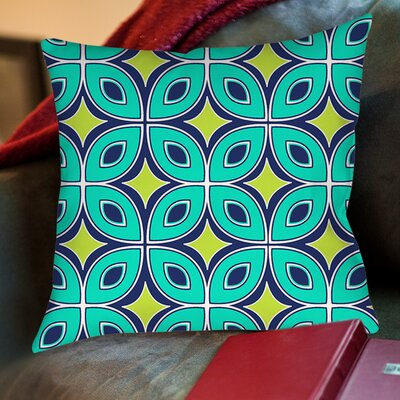 Lorraine Links Printed Throw Pillow Size: 26 H x 26 W x 7 D, Color: Blue