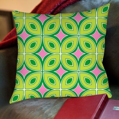 Lorraine Links Printed Throw Pillow Size: 16 H x 16 W x 4 D, Color: Green