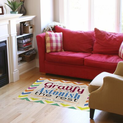 Always Do Right This Will Gratify Chevron Area Rug Rug Size: 31 x 110.5