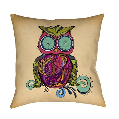 Owl Branch Gregir Throw Pillow Size: 26 H x 26 W x 7 D