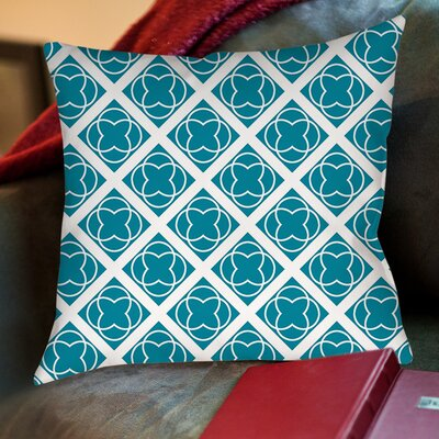 Modern Geometric Topaz Printed Throw Pillow Size: 16 H x 16 W x 4 D