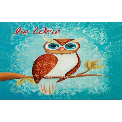 Be Wise Blue Area Rug Rug Size: 510 x 44
