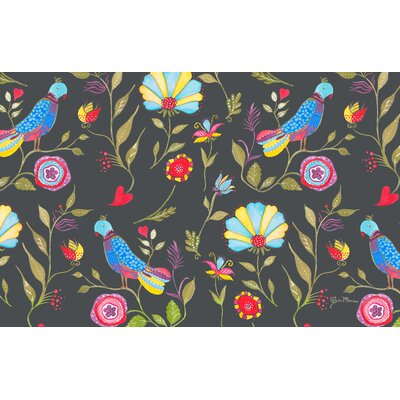 Early Bird Black Area Rug Rug Size: 510 x 44
