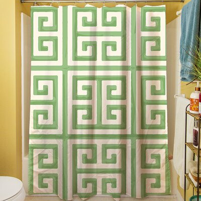Greek Key II Shower Curtain Color: Mint