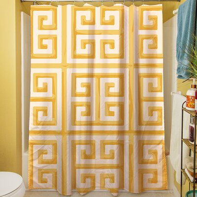 Greek Key II Shower Curtain Color: Yellow