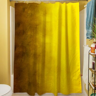 Ombre Shower Curtain Color: Gold
