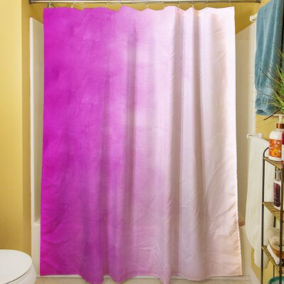 Ombre Shower Curtain Color: Pink