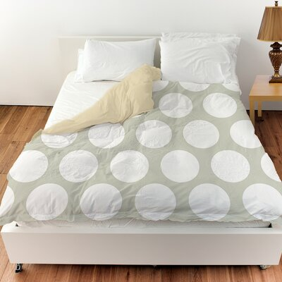 Amina Polka Dot Duvet Cover Size: King