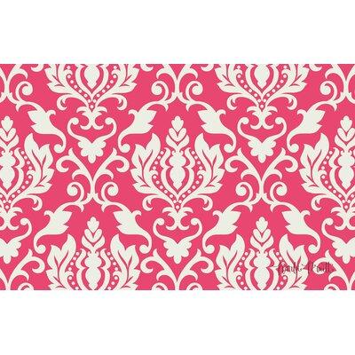 Francie Damask Pink Area Rug Rug Size: 510 x 44