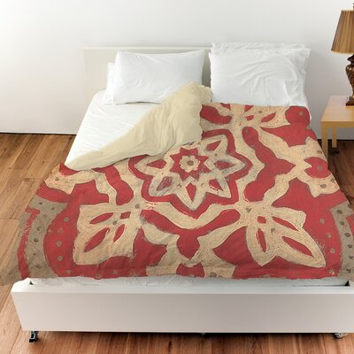 Golden Medallion Duvet Cover Size: King