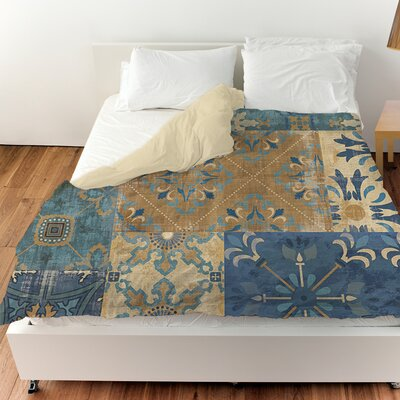Moroccan Patchwork Duvet Cover Size: King