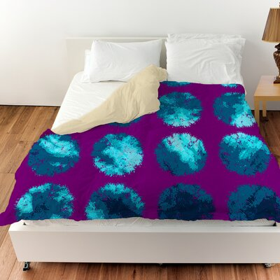 Fuzzy Dots Duvet Cover Color: Bright, Size: Queen