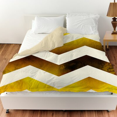 Ombre Duvet Cover Size: Queen, Color: Gold