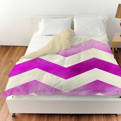Ombre Duvet Cover Color: Pink, Size: Twin
