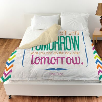 Tomorrow Sdgraphics Studio Sundance Duvet Cover Size: King