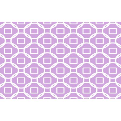 Modern Geometric Lavender Rug Rug Size: 510 x 44