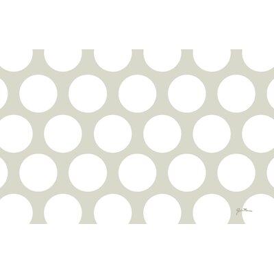 Amina Polka Dot White Area Rug Rug Size: 510 x 44