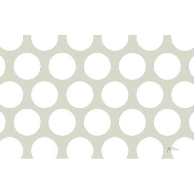 Amina Polka Dot White Area Rug Rug Size: 31 x 110.5