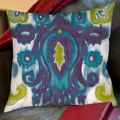 Radiant Transitions Printed Throw Pillow Size: 26 H x 26 W x 7 D, Color: Blue