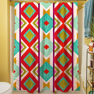 Ikat Shower Curtain Color: Mint