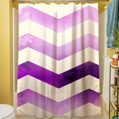 Ombre Shower Curtain Color: Purple