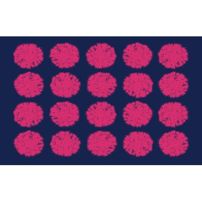 Pod Dots Blue Rug Rug Size: 31 x 110.5