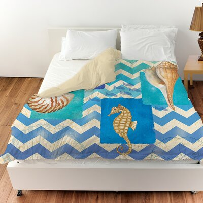 Deep Blue Sea Duvet Cover Size: Twin