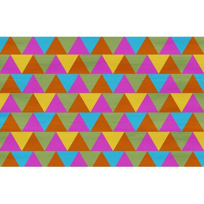Triangles Multi Rug Rug Size: 31 x 110.5