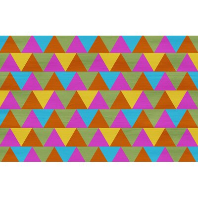 Triangles Multi Rug Rug Size: 510 x 44