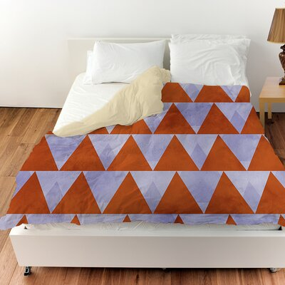 Triangles Duvet Cover Size: King