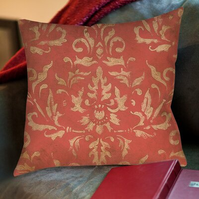 Golden Baroque Printed Throw Pillow Size: 16 H x 16 W x 4 D